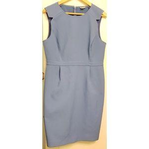 J. Crew Career Sleeveless Sheith Blue Dress